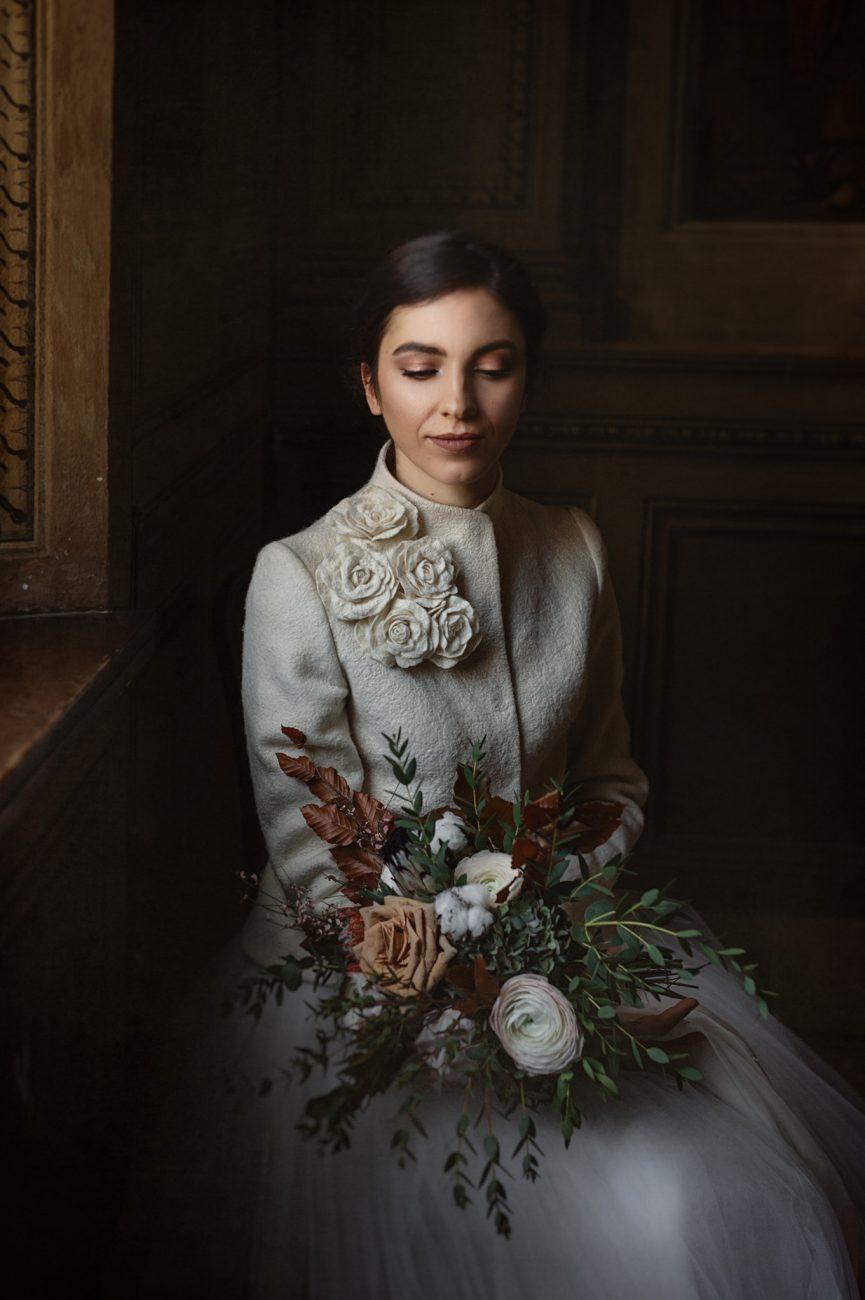 A portrait of a bride in Ferrara, Italy