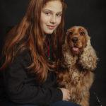Ritratto di cane di razza cocker spaniel con la sua proprietaria presso Bomb Studio - Borgo Leoni Fotografia a Ferrara, Bologna ed Italia